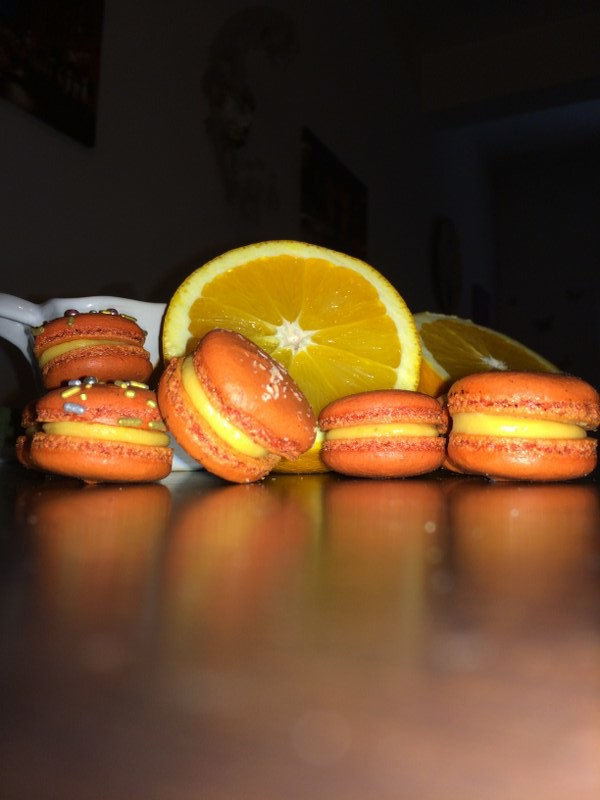 orange macarons חןחן (7)